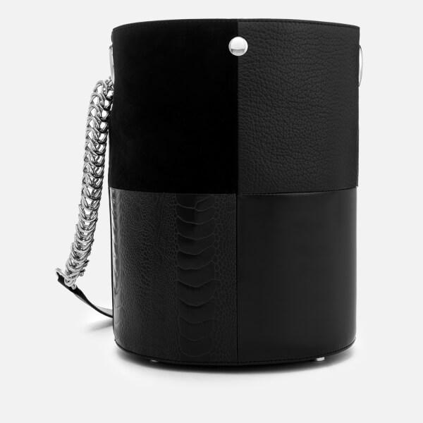 293202658e9b Alexander Wang Women s Genesis Patchwork Bucket Bag - Black - Free ...