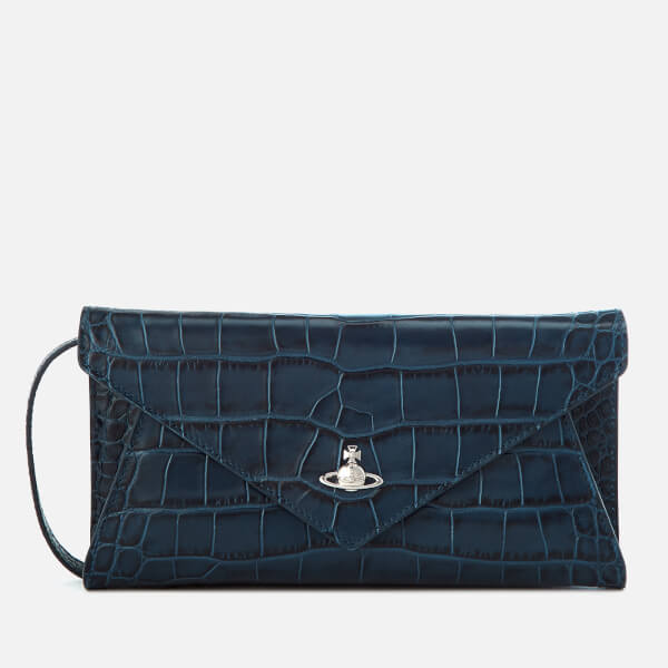Vivienne Westwood Women's Lisa Envelope Clutch Bag - Blue