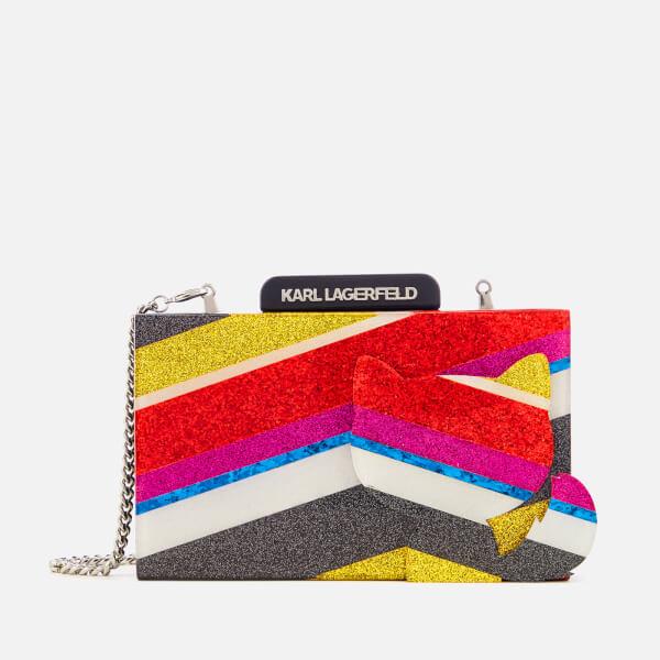 Karl Lagerfeld Women's K/Stripes Minaudière Bag - Multi