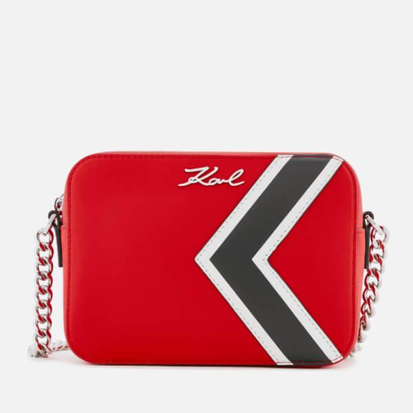 K/stripes shoulder bag - Red Karl Lagerfeld XEBeZRBFN