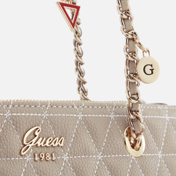 c0fe8325c2 Guess Women s Fleur Small Tote Bag - Cloud  Image 4