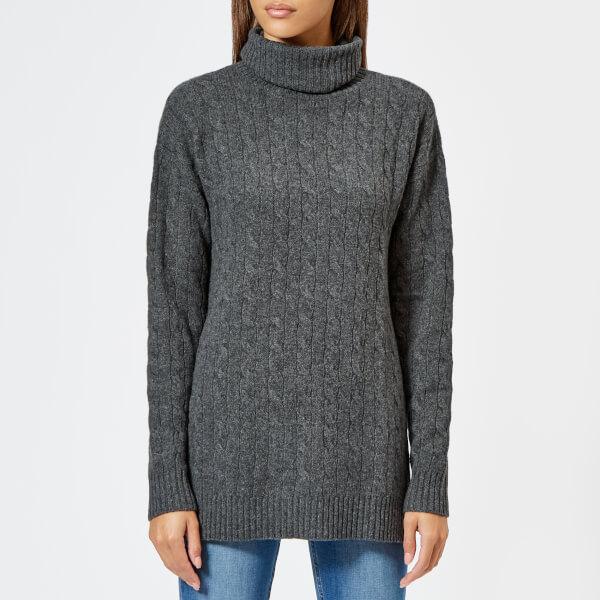con de de Lauren y alto lana mezcla Jersey cuello para mujer cachemir Ralph de Polo wfzRxt