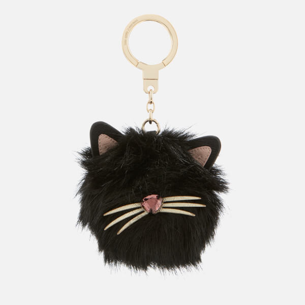 Kate Spade New York Women s Cat Pouf Keyring - Black Multi  Image 1 6b1db8457b1fd