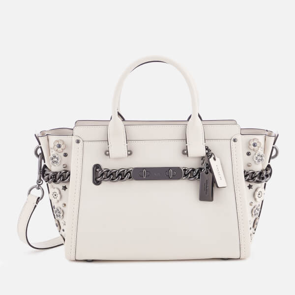 1a6b114d38 Coach Women s Swagger 27 Tote Bag - Chalk  Image 1