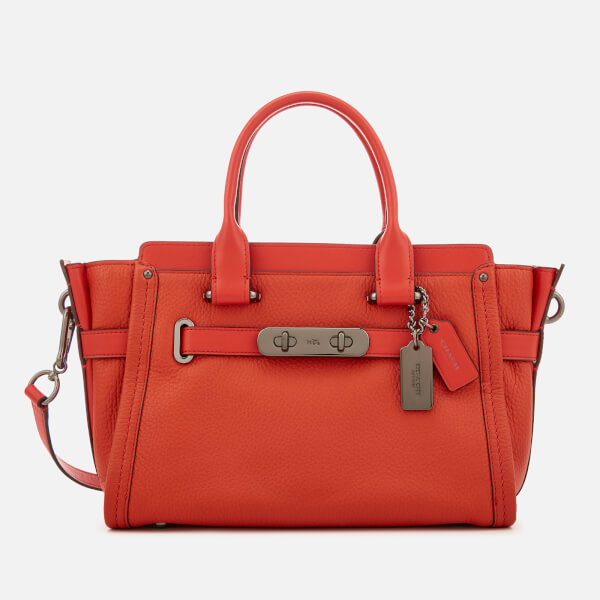 eff8560634c1b Coach Women s Swagger 27 Tote Bag - Deep Coral  Image 1