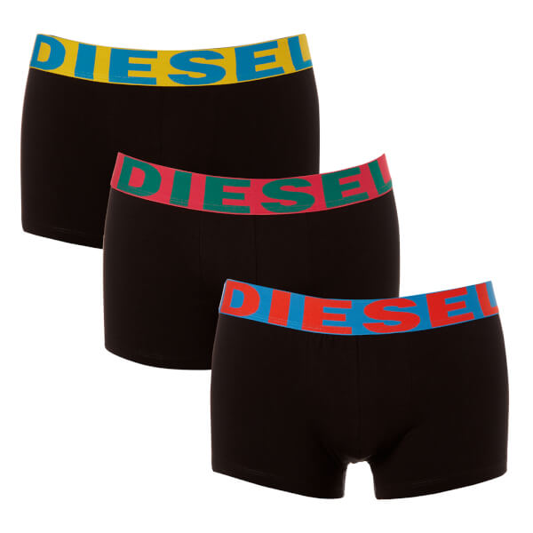 Diesel Men's Shawn Three Pack Boxer Shorts - Black/Multi