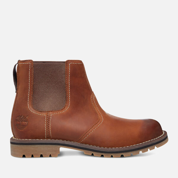 c214be08c0e8 Timberland Men s Larchmont Nubuck Chelsea Boots - Medium Brown Mens ...