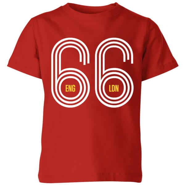 England 66 Kids' T-Shirt - Red