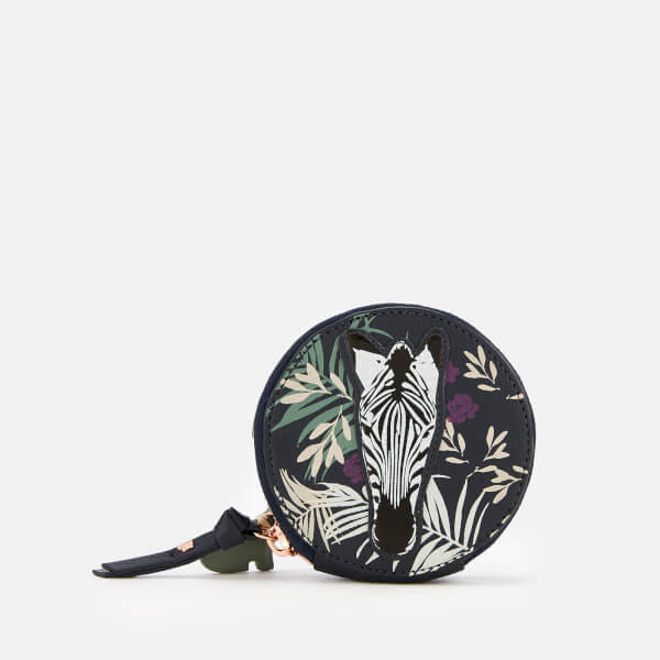 26d7d09add Radley Women s Longleat Palms Small Round Coin Purse - Ink  Image 1