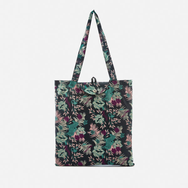 Radley Women S Winter Palms Foldaway Tote Bag Ink Image 1