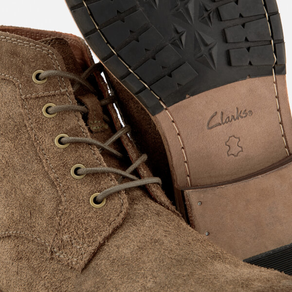 Clarks Men s Clarkdale Bud Suede Lace Up Boots - Khaki Mens Footwear ... 24efb97811a