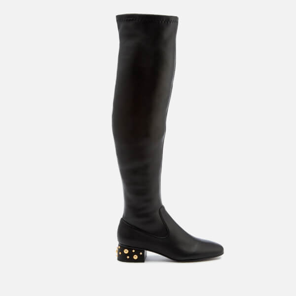 See By Chloé Women's Embellished Heel Thigh High Boots - Nero