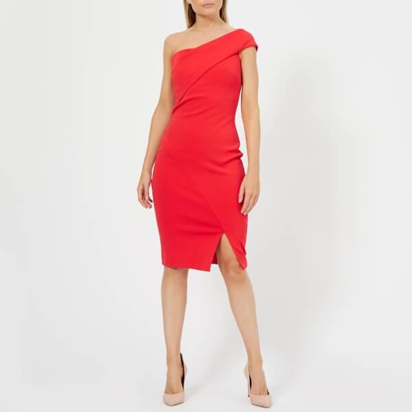 72fece683cec69 Ted Baker Women s Areena One Sleeve Bardot Dress - Red Womens ...