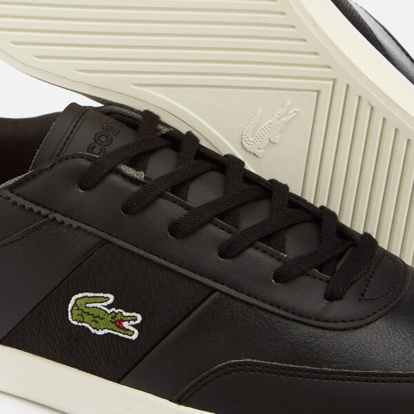 8203215a8b2e6 Lacoste Men s Court-Master 318 2 Leather Vulcanised Trainers - Black Brown   Image