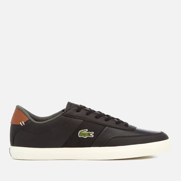 Lacoste Men's Court-Master 318 2 Leather Vulcanised Trainers - Black/Brown