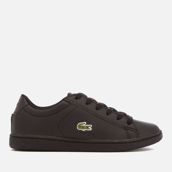 Lacoste Kids' Carnaby Evo 118 4 Trainers - Black/Black