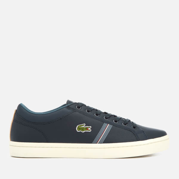 Lacoste Men's Straightset Sport 318 1 Leather Trainers - Navy/Natural - UK 10 m1T6dXaD0q