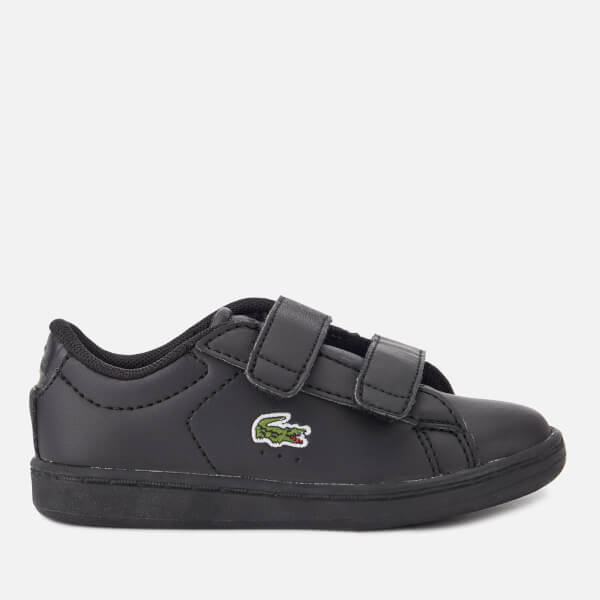 Lacoste Toddler's Carnaby Evo 118 4 Velcro Trainers - Black/Black
