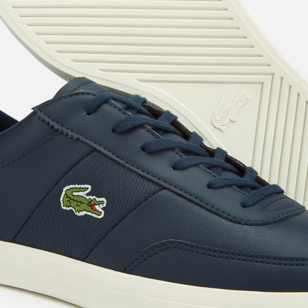 63fa07c7cde935 Lacoste Men s Court-Master 318 2 Leather Vulcanised Trainers - Navy Brown   Image