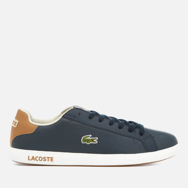 Lacoste Men's Graduate Lcr3 118 1 Leather Trainers - Navy/Light Brown - UK 10 PTRgywlb