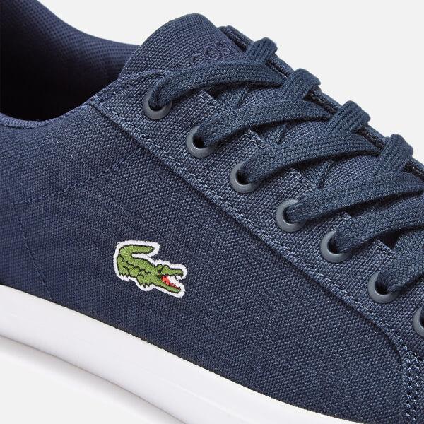 6c7202aff3d9f9 Lacoste Men s Lerond Bl 2 Canvas Trainers - Navy Mens Footwear ...