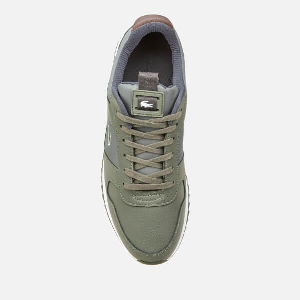 9eced820018b5 Lacoste Men s Joggeur 2.0 318 1 Textile Leather Runner Style Trainers -  Khaki Dark