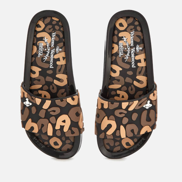 463c6c4cce08c4 Vivienne Westwood for Melissa Women s Leopard Beach Slide Sandals - Black  Contrast · View large image