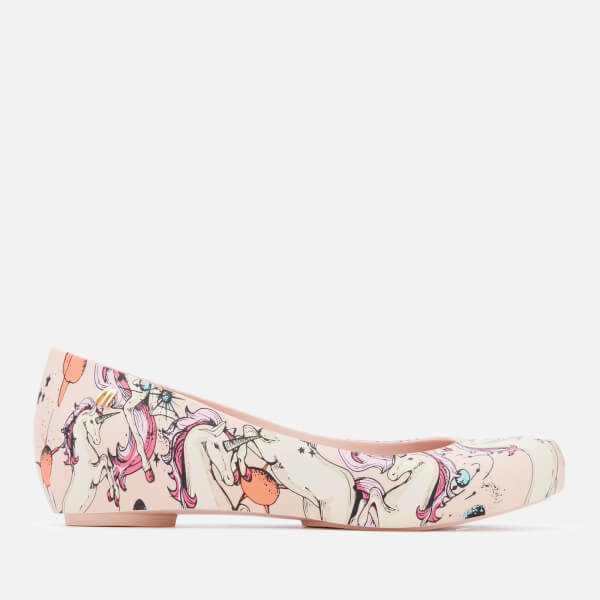 Melissa Kids' Ultragirl Fantasy 20 Ballet Flats - Blush Unicorn