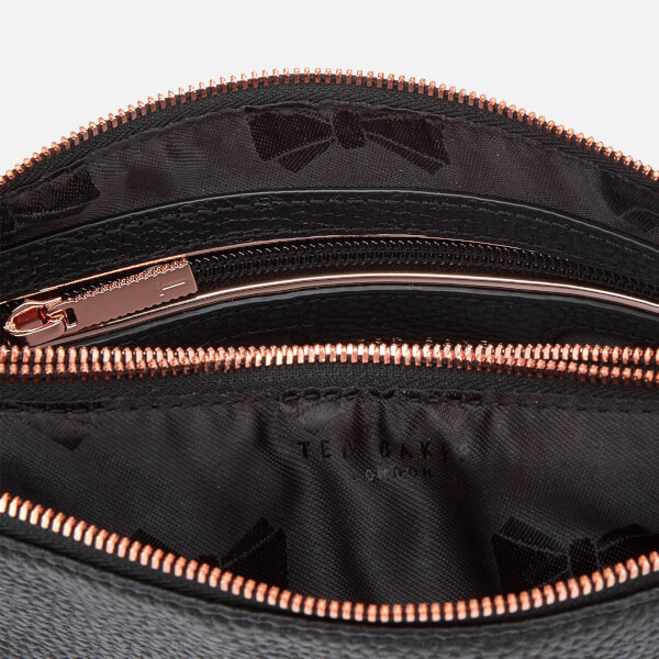 b88a25d298cf Ted Baker Women s Suzette Leather Double Zipped Cross Body Bag - Black   Image 5