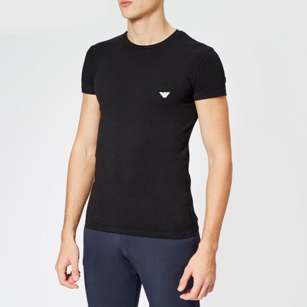 Emporio Armani Men's Small Logo Crew Neck T-Shirt - Black