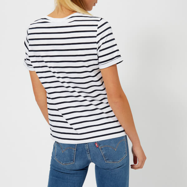 Tommy Hilfiger Women's Erin Round Neck T-Shirt - Navy/ stripe - XS - Navy/ Outlet Store Locations Eastbay Sale Online Top Quality Online Cheap Shopping Online pbN8SRudih