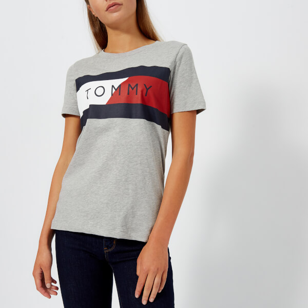 Tommy Hilfiger Women s Athleisure Elenor Crew Neck T-Shirt - Grey Marl   Image 1 598502f41b