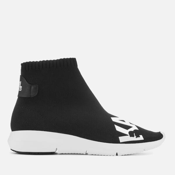 f2f69a8daa72 Karl Lagerfeld Women s Vitesse Knitted Sock Trainers - Black  Image 1