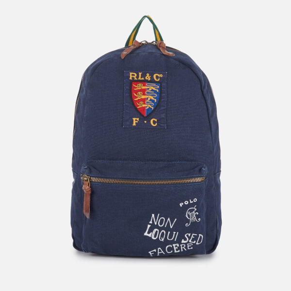 Polo Ralph Lauren Men s Canvas Logo Backpack - Navy  Image 1 2b9945511c212