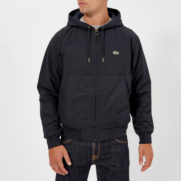 Lacoste Men s Hooded Bomber Jacket - Navy Blue Clothing   TheHut.com 78e03c43143