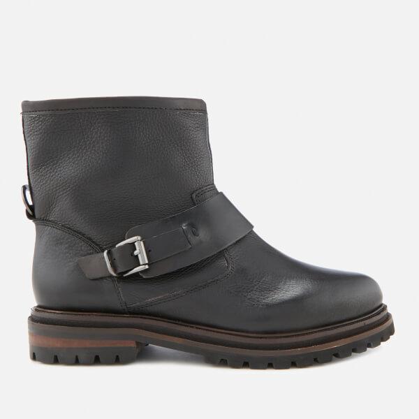 Hudson London Women's Sence Leather Biker Boots - Black