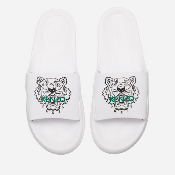 KENZO Men's Tiger Slide Sandals - White