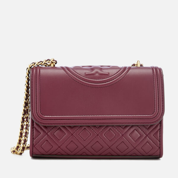 Tory Burch Women's Fleming Small Convertible Shoulder Bag - Imperial Garnet