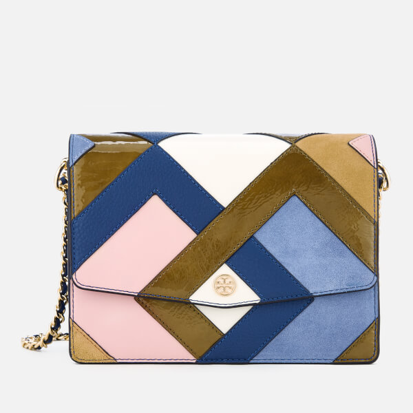 Tory Burch Women's Robinson Pieced Shoulder Bag - Bright Navy/Multi