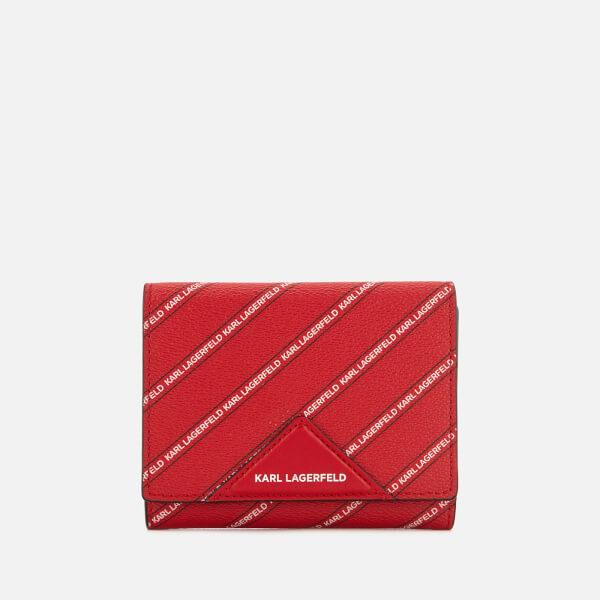 rojo mujer Karl con Monedero Lagerfeld de Imagen logo mediano Kstripe para 1 Zqx8f4