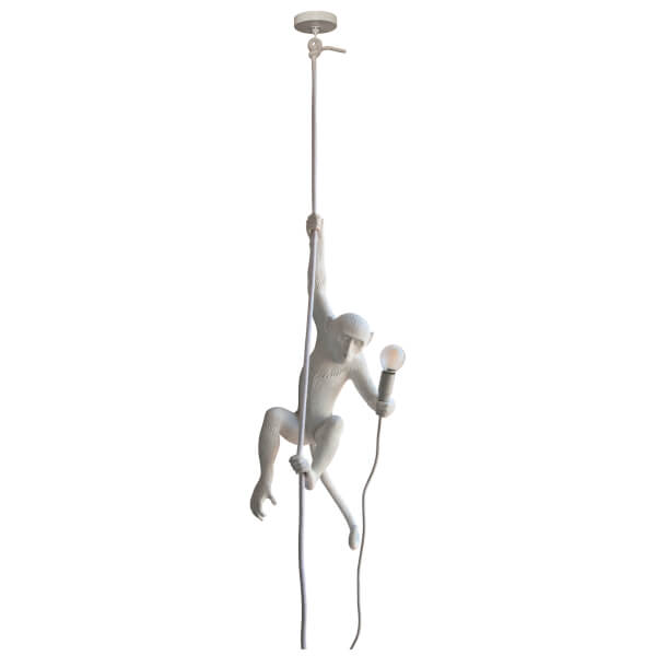 Seletti Indoor/Outdoor Ceiling Monkey Lamp - White