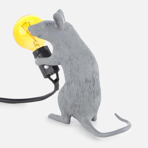 seletti sitting mouse lamp grey homeware. Black Bedroom Furniture Sets. Home Design Ideas