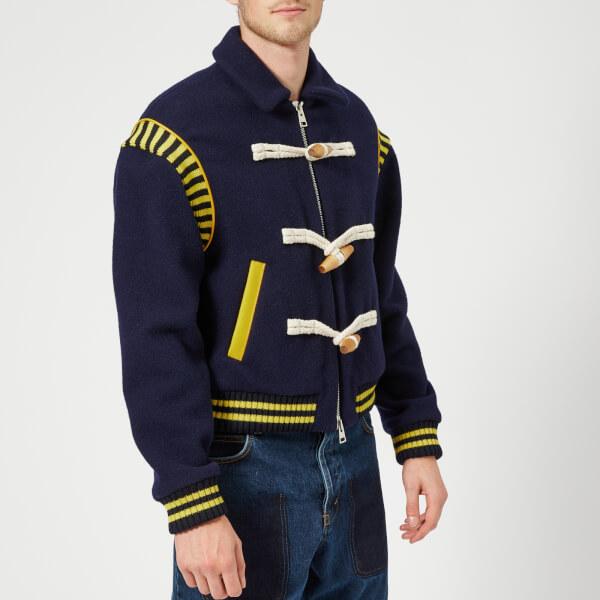JW Anderson Men's Varsity Wool Jacket - Navy
