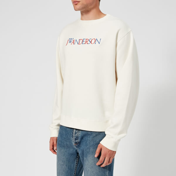 JW Anderson Men's JWA Logo Sweatshirt - Off White