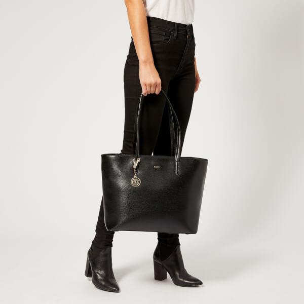 DKNY Women s Bryant Large Tote Carryall Bag - Black Gold Womens ... ae3c48b321a44