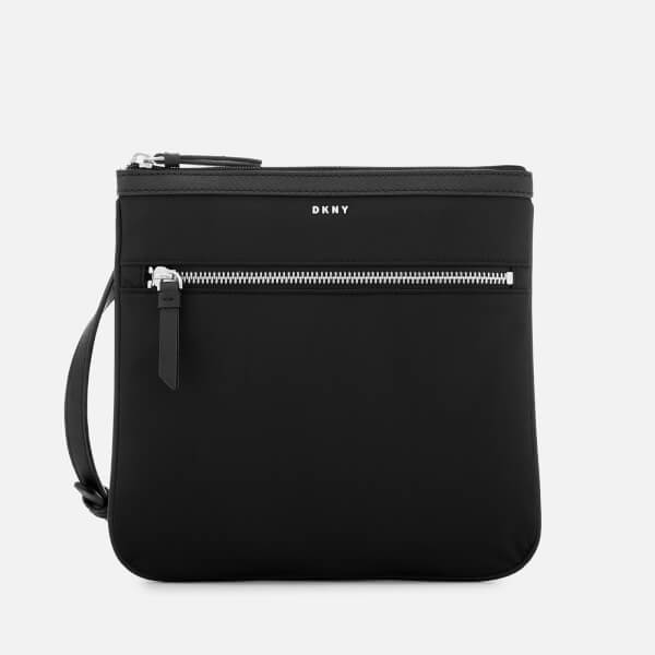 734b984b42 DKNY Women s Casey Zip Cross Body Bag - Black Silver Womens ...