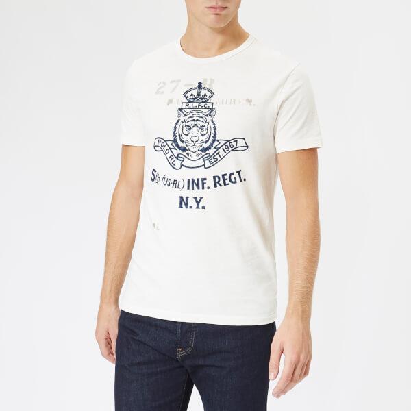 Polo Ralph Lauren Men S Lion Logo T Shirt Deckwash White Free Uk