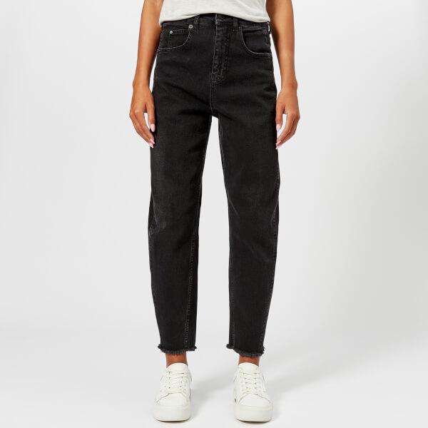 Whistles Women's High Waist Barrel Leg Jeans - Black