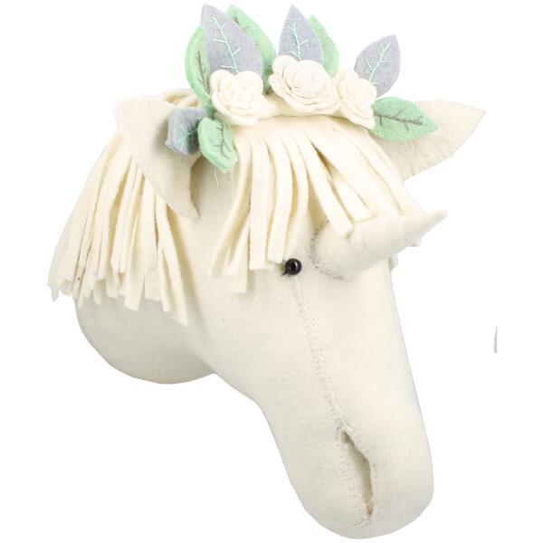 Fiona Walker England Wall Hanging Flower Unicorn Head