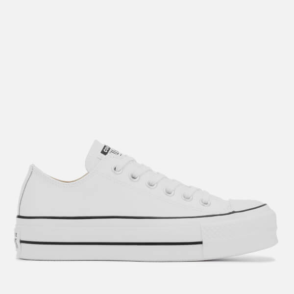 ad7cb4ca35a9 Converse Women s Chuck Taylor All Star Lift Clean Ox Trainers - White Black   Image